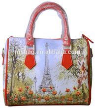 personalized women handbags high quality digital print lady bag waterproof 100% cotton SM021