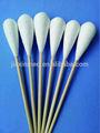 cabeza grande de bambú y algodón hisopo para uso médico