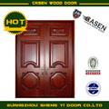 Entrada doble puertas de madera
