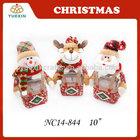 Festival Items Handmade Fabric Santa Snowman Reindeer Candy Box,Christmas Candy Jar