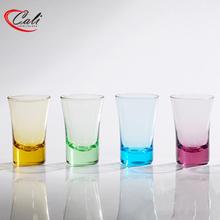 Safe printing glassware shot glass bottom colorful printing promotional