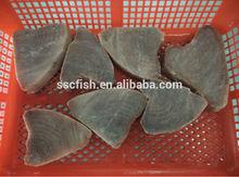 Frozen fish yellow fin tuna steak