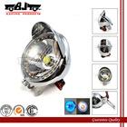 BJ-HL-009 Wholesale motorbike angel eye fog 27 LED chrome headlight motorcycle