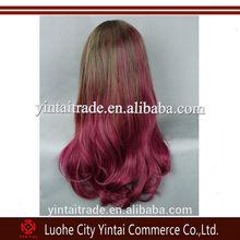Ombre Kanekalon Braiding Wig Lolita fashion two-tone color gradual change Cosplay Wig
