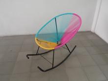 Nice colorful design steel wicker garden rocking chair
