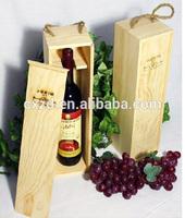 2014 High quality cheap fashion 3 bottle wooden wine box