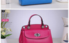 2014 best selling Summer Colorful Genuine Leather handbag Patent Hollow Boston women tote Bag