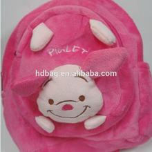 plush soft stuffed custom kids pink pig school bag