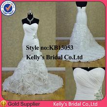 beadings at side organza skirt wedding dress sweetheart neckline