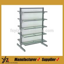 Simple style metal and acrylic supermarket shelf
