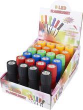 Cheap Lot of 24 PACKS Bright WATERPROOF 9 LED Rubberized Flashlight TORCH LAMP LIGHT w/3 x AAA Batteries New