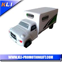 Custom logo PU foam anti stress truck van shaped kids toys advertising new product
