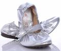 Las mujeres/señoras bajo el talón de plata brillante de ballet zapatos de alta calidad para la danza del vientre