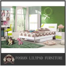 Modern teen white american children wooden bedroom furniture