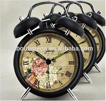 home decor quartz analog alarm clock/hot selling desk clock/antique alarm clock
