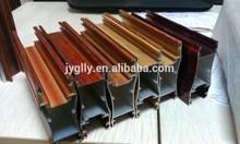 Todos os tipos de cor de madeira de alumínio extrudado rail para porta de correr