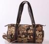 Cotton fabric travel handbag women jacquard travel bag