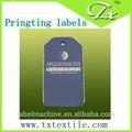 satinado tamaño de impresión de etiquetas de cuidado con una calidad superior