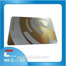 golden plastic membership card/PVC membership card printing