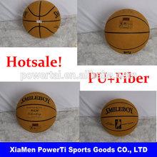 Cheap and high quality PU&fiber #5#7 customized LOGO training basketball