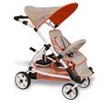2 asiento de bebé cochecito cochecito doble de aluminio