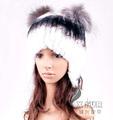 Cx-c-120d mujer de invierno cálido rex conejo de piel de rusia sombrero