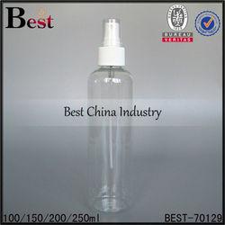 150ml plastic spray bottles with mist spray, cosmetics bottles OEM service, free sample