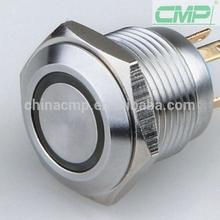 CMP 16mm waterproof LED Metal signal lamp ring illuminated indicator light ip67