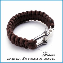 2014 the newest design top quality team logo paracord bracelet