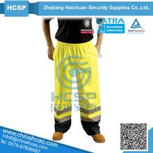 CE EN471 Fluorescent Yellow Reflective Pants high visibility trousers, reflective pants,reflective work wear