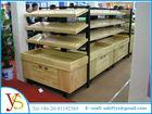 supermarket fruit and vegetable display shelves