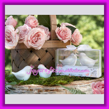 Wedding Favors Drop Attached Love Birds Salt and Pepper Shakers