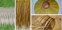 Cheap Extrusion decoration plastic artificial thatch roofing