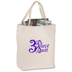 Oversized 12 oz Cotton Canvas Tote Bag with generous bottom gusset and 2 self material handle