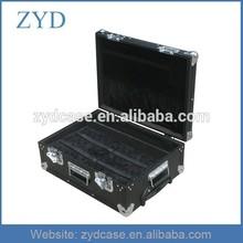 Aluminum precise instrument equipment box black tool case with wheels, ZYD-FL298
