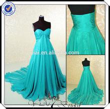 Pp0153 turquoise bleu robes de soirée élégante pour les femmes enceintes
