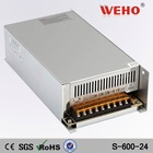 ISO9001 CE Rohs approved 24v 25a switch mode power supply 600w led driver