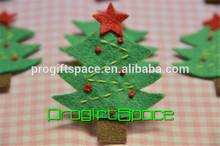 2015 Felt handmade felt Christmas Tree meadow green made in China