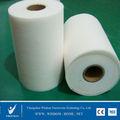 100% poliéster o de algodón de materia prima no tejido rollo de tela de tela