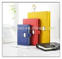 2014 custom top quality cheap leather portfolio with ring binder , pu leather portfolio bag , business portfolio with calculator