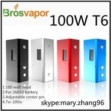 Breakthrough design!!!Powerful mod 100Watt T6 mod supply from Brosvapor