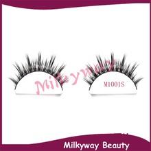 M1001 cluster crossing mink strip lashes siberian mink fur soft faux eyelash
