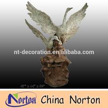 ready flying swan animal Brass water bird sculpture NTBH-D081