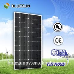 bluesun factory supply best seller monocrystalline 300w solar panel frame plastic