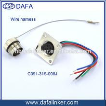8 pin AISG female connector wire harness