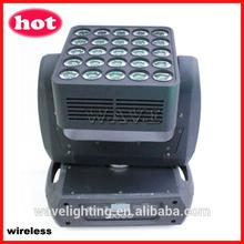 WLEDM-16 25 pcs cree RGBW 4 in 110W leds wireless beam wash moving head wheel moving led