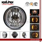 BJ-HL-007 Wholesale off road 35W black amber round 28 LED motorcycle headlight for harley davidson