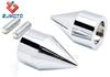 ZJMOTO Chrome Spike Bar Ends Hand Grip End Caps For 1994-2007 Kawasaki EX500R ZX14 ZX-12R