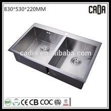 hot selling Top mounted 304 stainless steel bathroom corner sink