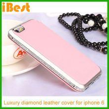 iBest Luxury Hard Crystal Diamond Bumper + Aluminum Metal Cover Case For iPhone 6,rhinestone phone case